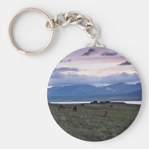 Horses in Whale-fjord #3 Keychain