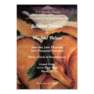 """Horses 5"""" X 7"""" Invitation Card"""