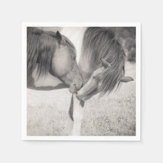Horses Kissing Paper Napkins