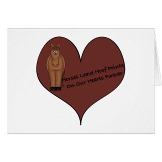 Horses Leave Hoof Prints Greeting Card