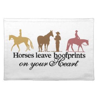 Horses Leave Hoofprints Placemat