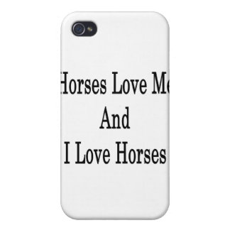 Horses Love Me And I Love Horses iPhone 4/4S Cover
