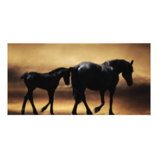 Horses mom and I Personalised Photo Card