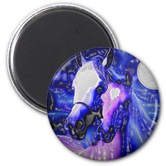 Horses Night Fridge Magnets
