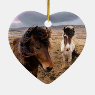 Horses of Iceland Christmas Ornament