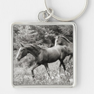Horses of Liberty i-phone cases and gifts Silver-Colored Square Key Ring