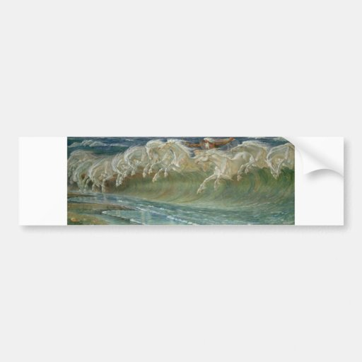 *Horses of Neptune* by Walter Crane Bumper Stickers