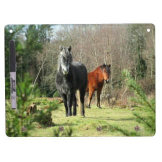 Horses of The Forest 1 Dry Erase Board With Key Ring Holder