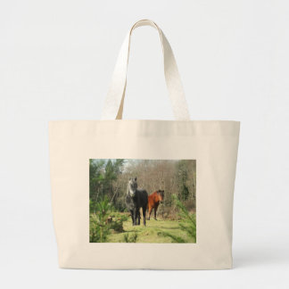Horses of The Forest 1 Large Tote Bag
