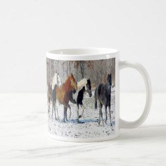Horses on a Farm Coffee Mugs