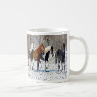 Horses on a Farm Coffee Mugs