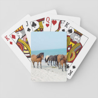 Horses on Assateague National Seashore Poker Deck