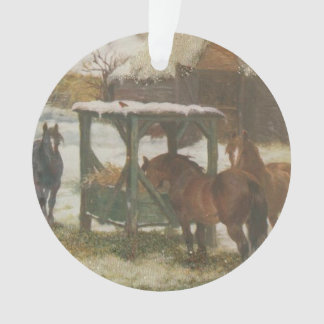 Horses on Christmas Day Ornament