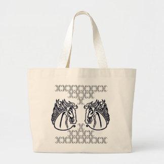 Horses on Jumbo Tote Bag