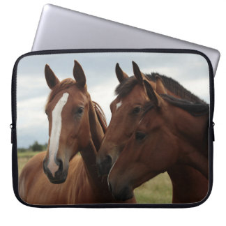 Horses on Neoprene Laptop Sleeve 15 inch