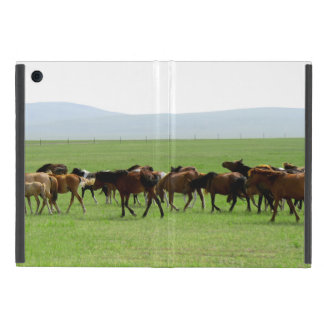 Horses on Pasture - Landscape Photograph Case For iPad Mini
