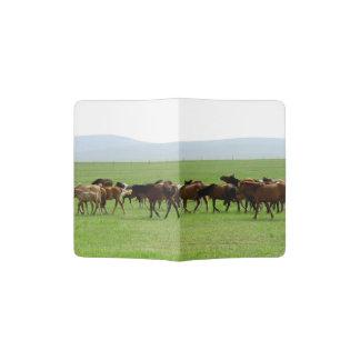 Horses on Pasture - Landscape Photograph Passport Holder