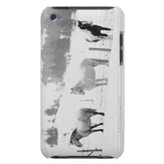Horses on ranch barely there iPod case