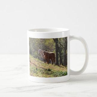 Horses on the farm basic white mug