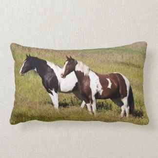 Horses on the hillside lumbar cushion