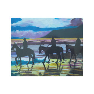 Horses on Waterfoot Beach by Joanne Casey Canvas