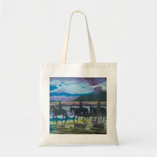 Horses on Waterfoot Beach County Antrim art Tote