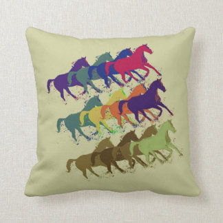 horses pattern farm style decor cushion