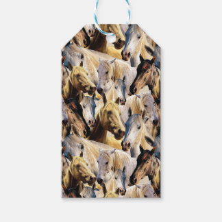 Horses pattern gift tags