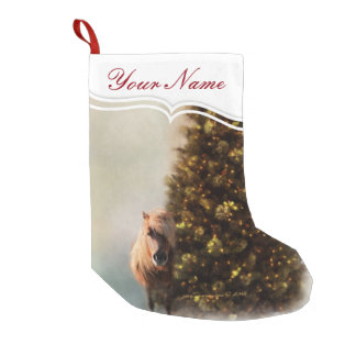 Horses: Personalised Christmas Pony Under the Tree Small Christmas Stocking