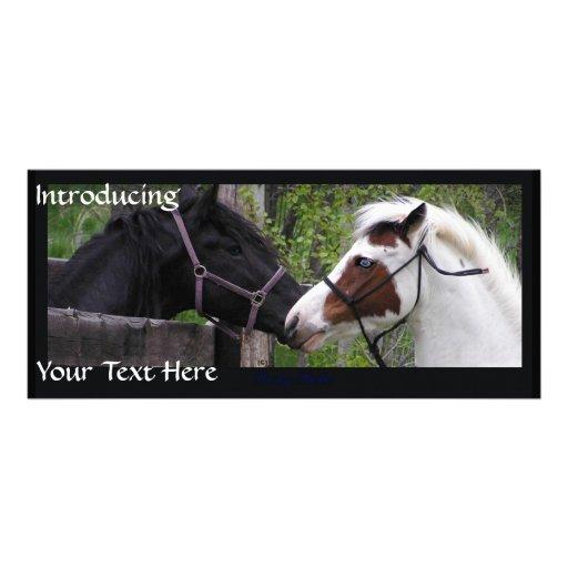 Horses Personalised Rack Card