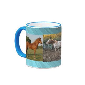 Horses Pet Western Ranch Farm Animal Cute Ringer Mug