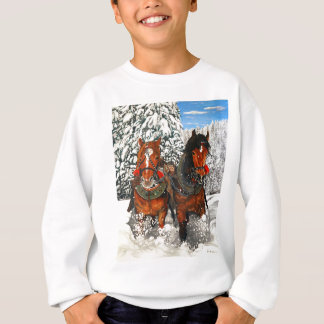 Horses plowing sweatshirt
