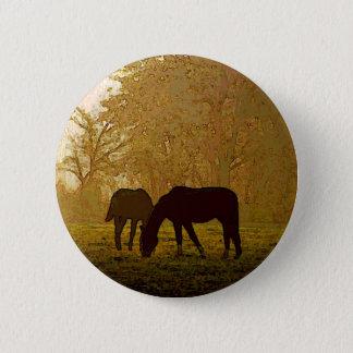 Horses Pop Art 6 Cm Round Badge