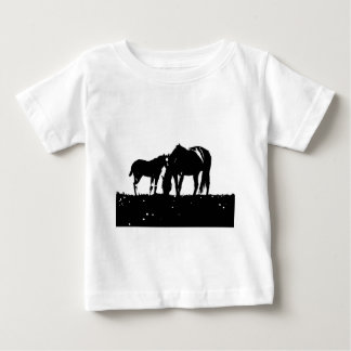 Horses Pop Art Baby T-Shirt