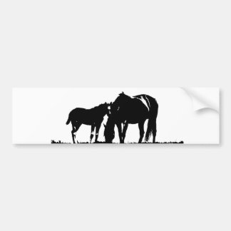 Horses Pop Art Bumper Sticker