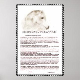 Horse's Prayer Poster