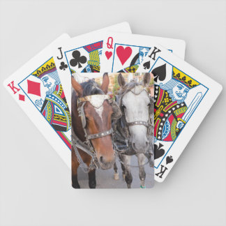 Horses Pull a Carriage Bicycle Playing Cards