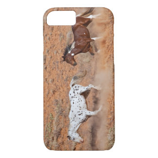 Horses roaming the Big Horn MT of Shell Wyoming. 2 iPhone 8/7 Case