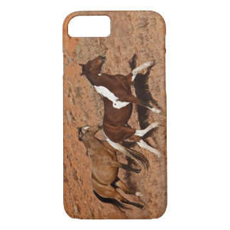 Horses roaming the Big Horn MT of Shell Wyoming. iPhone 8/7 Case