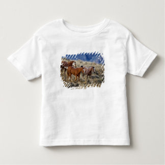 Horses roaming the scenic hills of the Big Horn 2 Toddler T-Shirt
