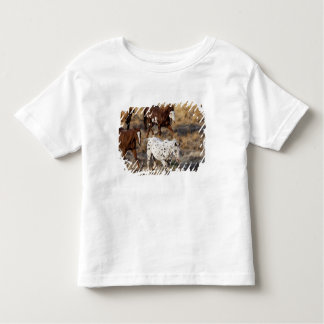 Horses roaming the scenic hills of the Big Horn Tee Shirts