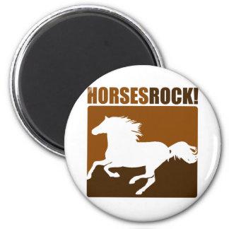 Horses Rock! #2 6 Cm Round Magnet