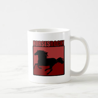 Horses Rock! #3 Basic White Mug