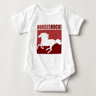 Horses Rock! #4 Baby Bodysuit