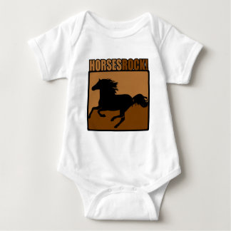 Horses Rock! Baby Bodysuit