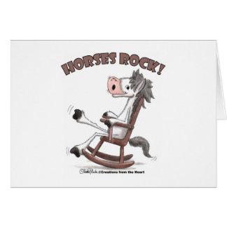 Horses Rock! Greeting Card