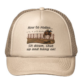 Horses, Rodeo, How to Rodeo Cap