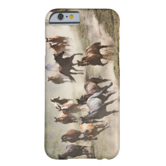 Horses running during roundup, Montana Barely There iPhone 6 Case