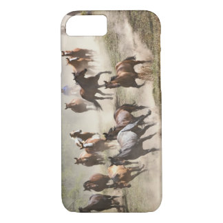 Horses running during roundup, Montana iPhone 8/7 Case