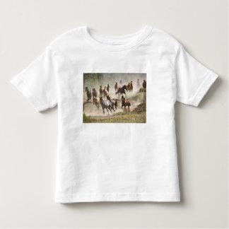 Horses running during roundup, Montana Toddler T-Shirt